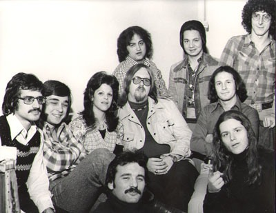 Gilda Radner, John Belushi, Bill Murray, Harold Ramis and friends